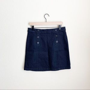 Loft Blue Jean Skirt with buttons. Size 8